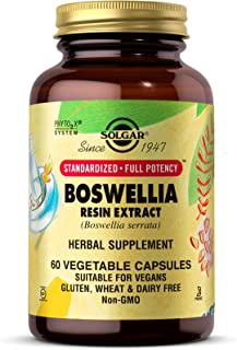 Solgar Boswellia Resin Extract, 60 Vegetable Capsules - Supports Joint Comfort & Digestive Health - Standardized Full Pote...