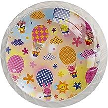 AITAI Dieren Hete Luchtballonnen Ronde Kabinet Knop 4 Pack Trekt Handvatten