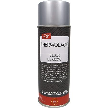Sdv Chemie Thermolack Spray Schwarz Bis 650 C 1x 400ml Auspufflack Ofenlack Motorlack Grill Lack Auto