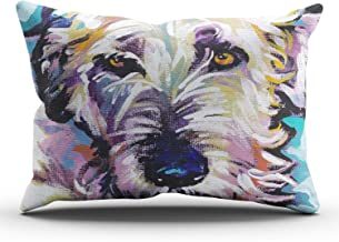 DOUMIFA Irish Wolfhound Bright Colorful Pop Dog Art Pillowcase Home Sofa Decorative 20x36 King Throw Pillow Case Decor Cus...