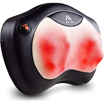 Shiatsu Neck and Back Massager - 8 Heated Rollers Kneading Massage Pillow for Shoulders, Lower Back, Calf, Legs, Foot - Relaxation Gifts for Men, Women - Shoulder and Neck Massager Present for Wife