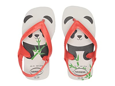 Havaianas Kids Baby Pets Flip-Flop (Toddler) (White/Strawberry) Girls Shoes