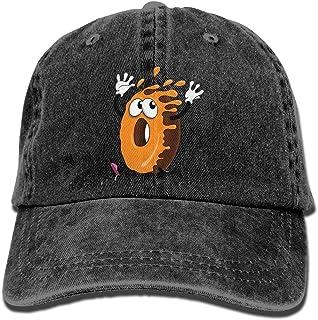 Lixinli Men's Women's Running Doughnut Cotton Adjustable Peaked Baseball Dyed Cap Adult Washed Cowboy Hat Black
