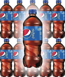 Pepsi Soda, 20oz Bottle (Pack of 10, Total of 200 Fl Oz)