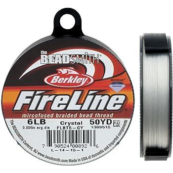 """Fireline XCR-1278 Crystal Braided Beading Thread, .006""""/50 yd"""