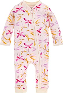 Burt's Bees Baby Baby Girls' Romper Jumpsuit, 100% Organic Cotton One-Piece Coverall, Dragon Fly Zip, 18 Months