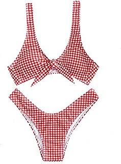 Bikini De Mujer De Gran Tama/ñO De Impresi/óN Traje De Ba/ñO A Rayas Bikini De Cintura Alta Split Net Traje De Ba/ñO Ropa De Playa Bikini Resplend