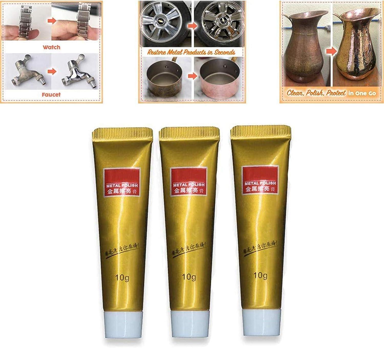 HFDHD Fixini All Metal Polish Cream, Ultimate Metal Polish Cream, Gel removedor de óxido para Metal, Elimina el deslustre sin rayar, Brillo sin Rayas para lavavajillas, fregaderos, etc. 3Pcs