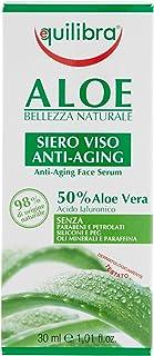 Equilibra Viso, Aloe Siero Viso Anti-Aging, Siero Viso Antirughe a Base di Aloe Vera per Pelli Sensibili, Leviga e Illumin...