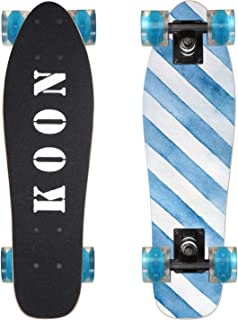 KOON Skateboards 22 Inch Complete Mini Cruiser Skateboard for Beginner Boys and Girls