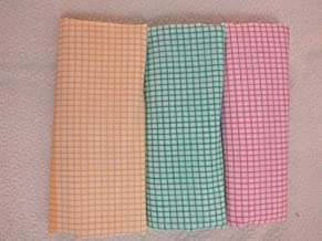 looms & weaves Cotton Handloom Bath Towels (60 X 30-inch) - Set of 3