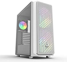 $79 » Montech AIR X White Super High Airflow Motherboard Sync ARGB ATX Mid-Tower Case with 2 200mm 5V Addressable RGB Fan + 1 120mm Addressable RGB Fan+ Fan Controller Pre-Installed