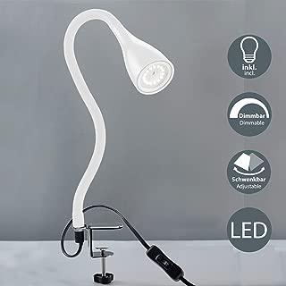 B.K.Licht - Flexo LED con pinza, para escritorio, luz de