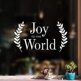 Vinyl Wall Art Decal - Joy to The World - 13