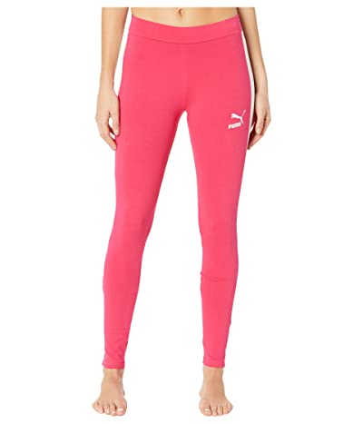 PUMA Classics Logo T7 Leggings (Bright Rose) Women