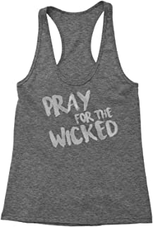 Pray for The Wicked Triblend Racerback Tank Top for Women