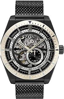 Hugo Boss Mens Quartz Watch, Analog Display and Stainless Steel Strap 1513655