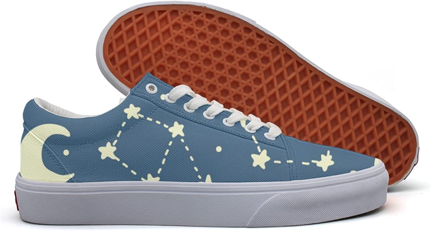 Constellation Galaxy Pattern Womens Latest Canvas Sneakers Low Top Best Sneakers For Women's