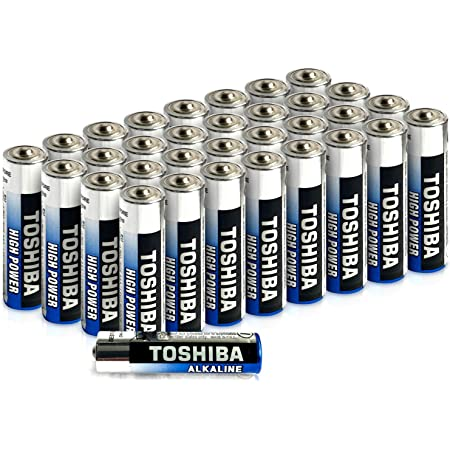 Toshiba AAA Alkaline Batteries 40 Pack   High Power   Extra Long Operating Time   LR03 Superior Japanese Quality   Super Value Bulk Pack