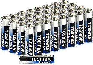 Paquete de 40 Pilas alcalinas Toshiba AAA | Alta Potencia | Tiempo de Funcionamiento Extra Largo | LR03 Japonesa | Paquete de Gran Valor
