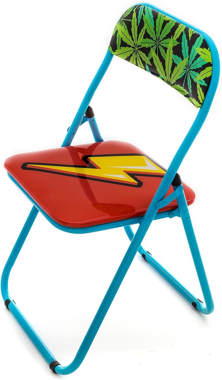 el estilo clásico Seletti Seletti Seletti Blow Flash sedia pieghevole con decoro fulmine  alta calidad y envío rápido