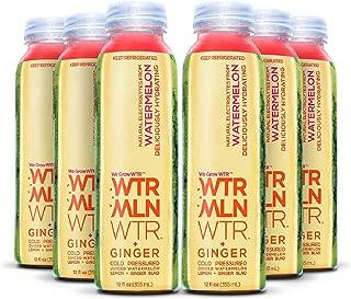 WTRMLN WTR + Ginger Cold Pressed Juiced Watermelon, Ginger BLND, 12 Oz Bottles (Pack of 6)