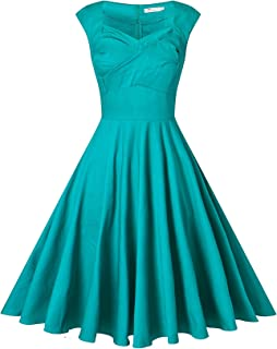 VOGVOG Women's 1950s Retro Vintage Cap Sleeve Cocktail Party Swing Dress