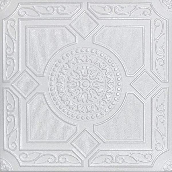 White Styrofoam Ceiling Tile Lima Package Of 8 Tiles Other Sellers Call This Kensington Gardense And R30