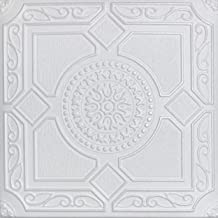 White Styrofoam Ceiling Tile Lima (Package of 8 Tiles) - Other Sellers Call This Kensington Gardense and R30