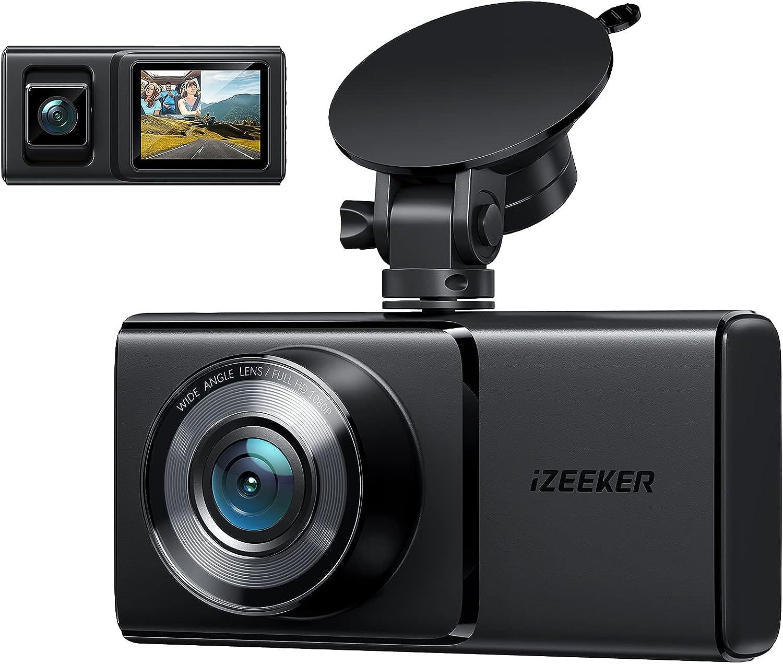 Izeeker 1080p Front & Rear Dash Camera $39.99 Coupon