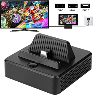 Switch Dock, ERNSTING Portable Switch Charging Stand Case for Nintendo, Switch Docking Station with USB Type C Power Input Port, HDMI Video Port Support 4K1080P and USB 3.0 Data Port