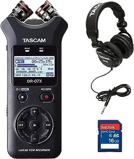 Tascam Stereo Digital Audio Recorder + Memory Card + Home & Studio Headphones