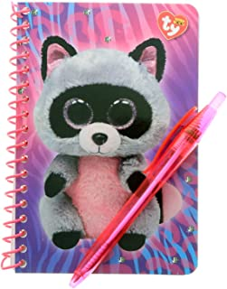KidPlay Products Beanie Boos Stationary Set with Pen - Rocco Raccoon