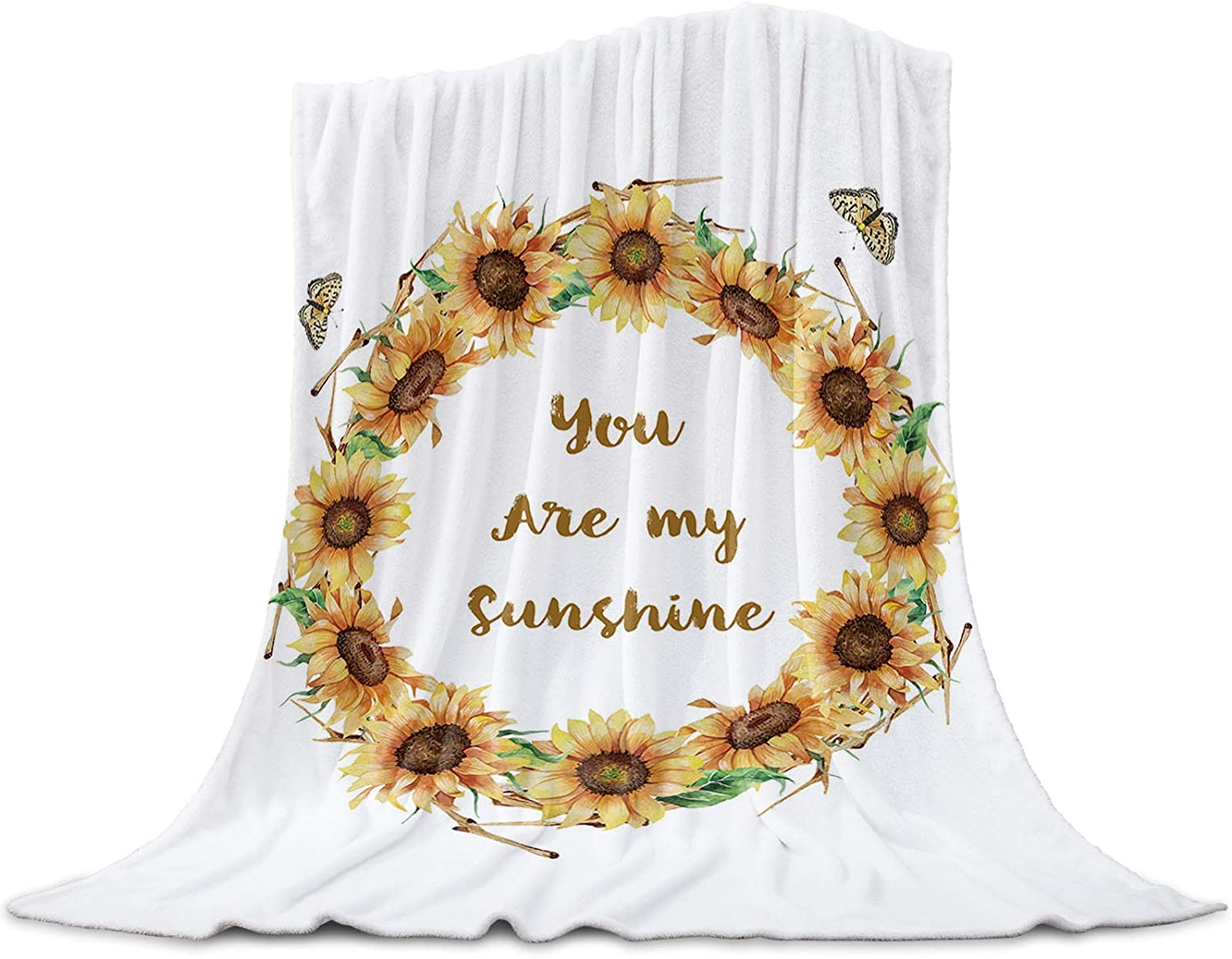 Ultra Soft Flannel Fleece Bed Summer New famous Shipping Free Sunflower wi Blanket Wreath