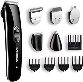 Beard Trimmer for Men, HANGSUN All-in-One Multi-functional Grooming Kit HC510, Rechargeable Hair Clippers, Cordless Hair Trimmer for Face, Body, Beard and Nose Hair