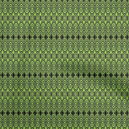 oneOone Polyester Spandex Light Green Fabric Ikat Craft Projects Decor Fabric Printed by The Yard 56 Inch Wide-D4