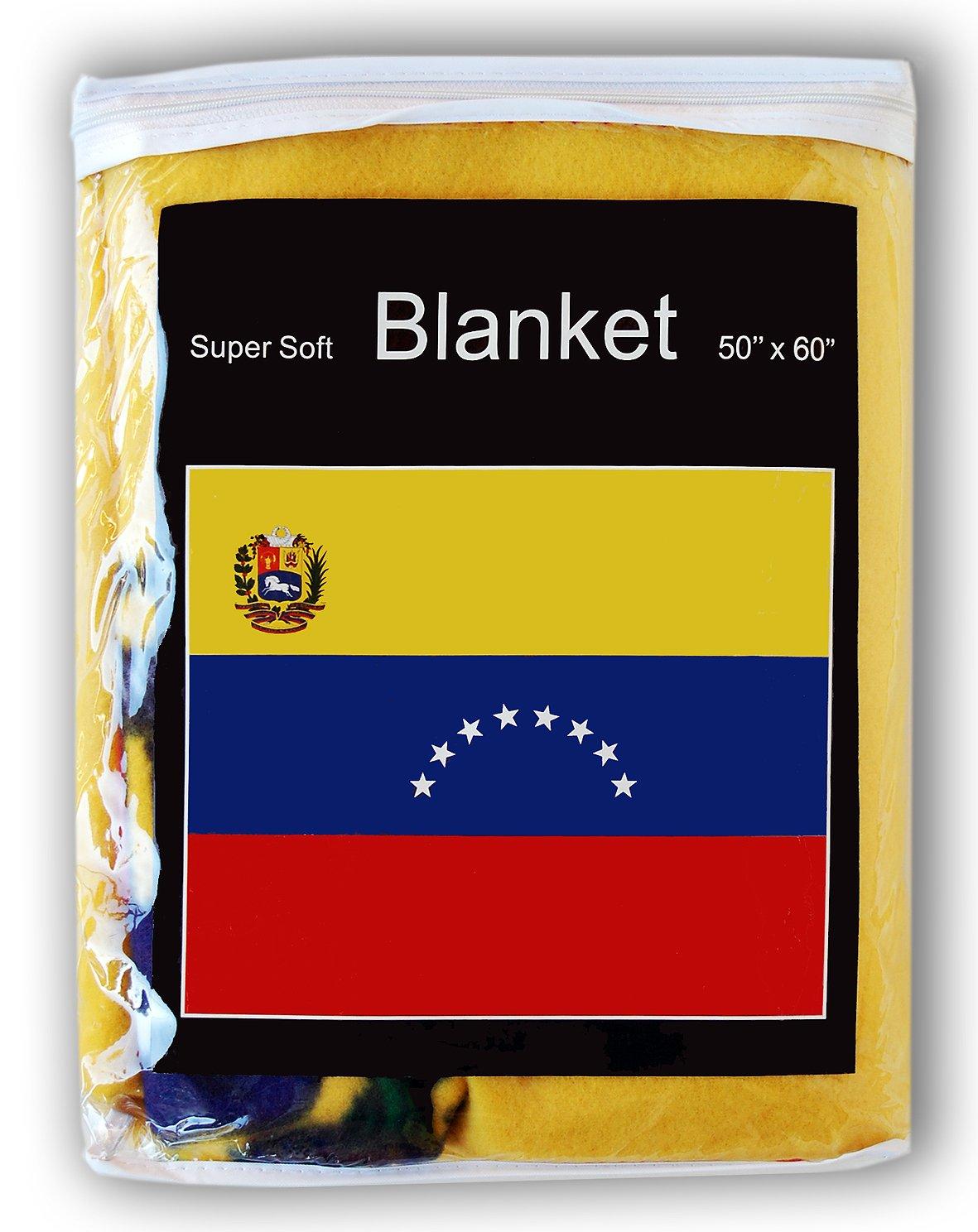 Manta de forro polar de bandera de Venezuela 5 ft x 4.2 Ft. Manta, bandera de Venezuela Cobija Manta: Amazon.es: Hogar