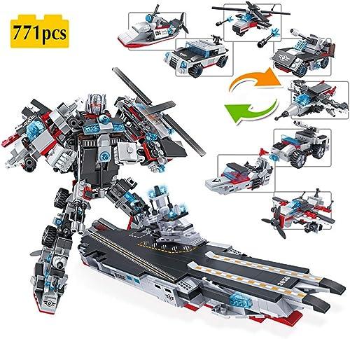 TTGE 8 in 1 Kind Bausteine Spielzeug zusammenbauen (Milit lugzeugtr r Spielzeugmodell) 771pcs