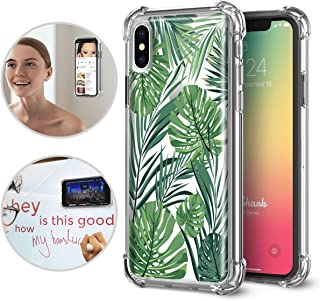 iPhone X/Xs Case, TiTiShark Premium Anti Gravity Protective Case [Hands-Free Case], Rainforest Design Interior Printed Clear Case for Apple iPhone X/Xs
