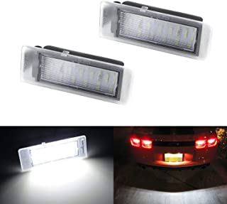 iJDMTOY OEM-Fit 3W Full LED License Plate Light Kit For Chevrolet Camaro Corvette SS Equinox Impala Volt, Cadillac ATS CTS SRX XTS ELR, Powered by 18-SMD Xenon White LED & Can-bus Error Free