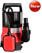 Sump Pump 1/2HP Clean Dirty Water Submersible Pump 400W Pump for Swimming Pool Drain (Red)