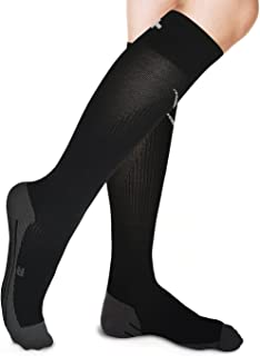 Rikedom Sports Graduated Compression Socks - Relieving Leg Pain, Swelling, Boosting Circulation