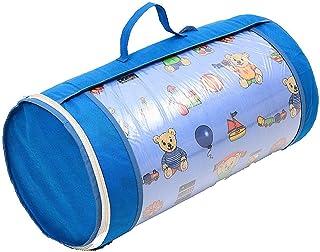 Barnsängmadrass, NEUSTE TECHNIK babymadrass 70 x 140 cm barn rullmadrass med resväska – överdrag 100 % mjuk mikrofiber