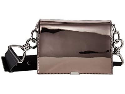 AllSaints Captain Mirror Shoulder (Gunmetal Grey) Bags