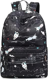 """Joymoze Girl Cute School Backpack Fit for 15.6"""" Laptop Children Bookbag Large Black Robot JYBP843BKRT"""