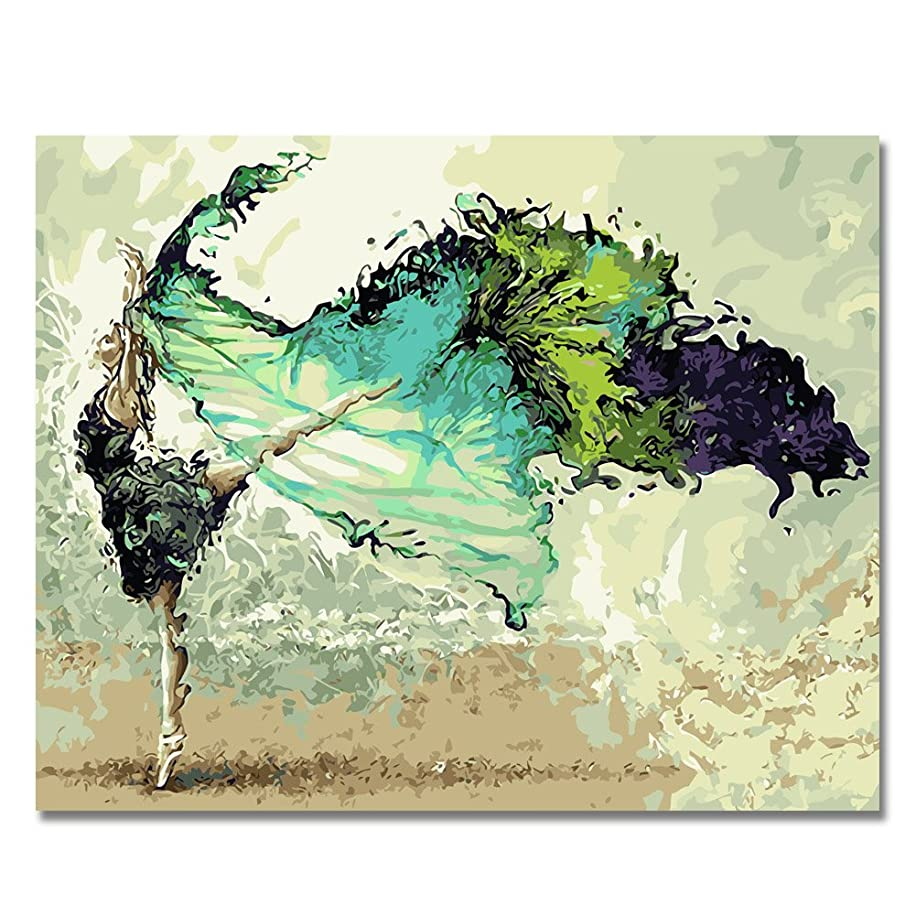 BOSHUN Paint by Numbers Kits with Brushes and Acrylic Pigment DIY Canvas Painting for Adults Beginner- Abstract Dancer 16 x 20 inch(Without Frame)