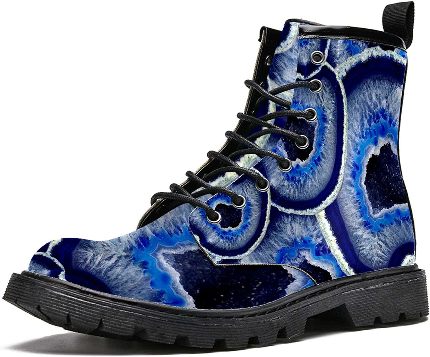 Women's High-Top Milwaukee Mall Fashion Boot Abstract Gray Blue Time sale