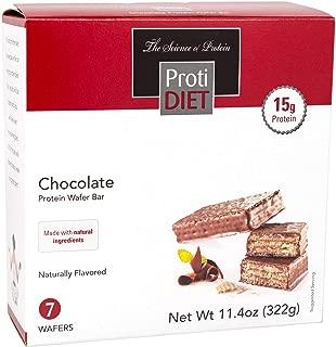 ProtiDiet Protein Wafer Bar - Chocolate (7/Box) - High Protein 15g - Low Sugar