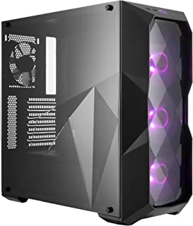 Cooler Master MasterBox TD500 ATX Mid Tower w/ 3D Diamond-Cut Design, Front Intake Vents, Transparent Side Panel & 3X 120mm RGB Fans w/RGB Controller