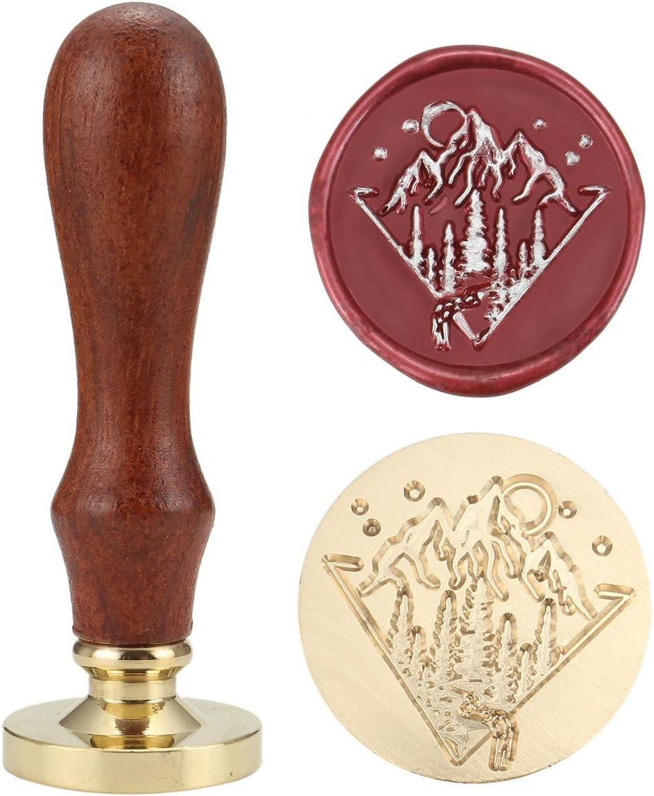 3cm stamp Custom Outdoor Wedding Stamp  Wax Seal Stamp  Mountain Stamp  Personalized Stamp  Wedding Invitation